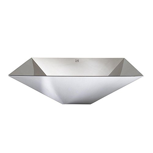 Decolav 1285 P Simply Stainless Polished Stainless Steel Vessel Sink  Polished Stainless Steel