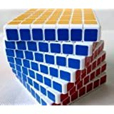 ShengShou 7x7 7.5cm Speed Cube White Twisty Magic Puzzle