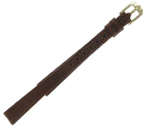 10mm Brown Ladies Genuine Lizard Watch Band Speidel