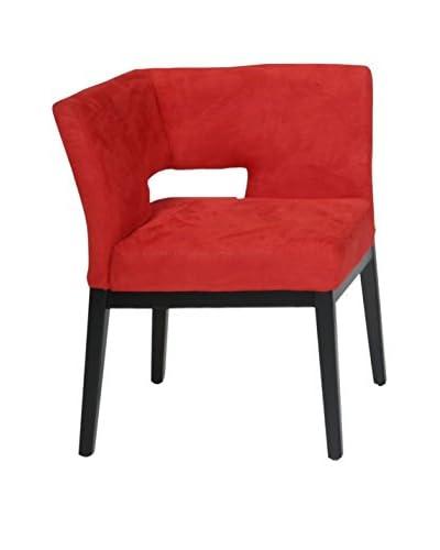 Armen Living Microfiber Corner Chair, Red