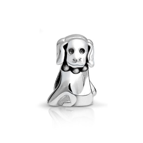Bling Jewelry 925 Sterling Silver Puppy Dog Animal Bead Charm Pandora Compatible