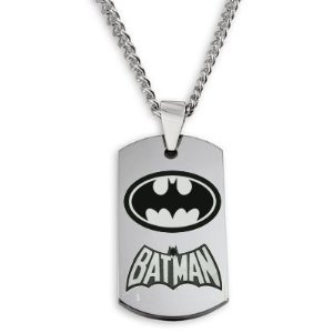 : Batman Dogtag Necklace w/Chain and Giftbox