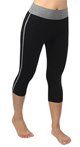 4how damen sport hose schwarz grau elegant jogging hose. Black Bedroom Furniture Sets. Home Design Ideas