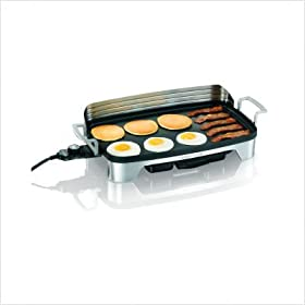Electric Griddle with Removable Backsplash