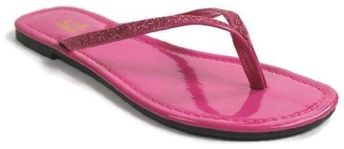 Kali Footwear Women'S Focus Glitter Flip Flops 8 front-558059