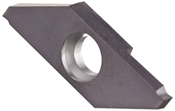 "Sandvik Coromant MACL 3 200-N CoroCut XS Carbide Parting Insert, GC1105 Grade, TiAlN Coating, Left Hand Orientation, Neutral Cut, 2 Cutting Edges, 0.002"" Corner Radius, 3 Insert Seat Size"