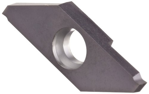 Sandvik Coromant MACL 3 100-N CoroCut XS Carbide Parting Insert, GC1105 Grade, TiAlN Coating, Left Hand Orientation, Neutral Cut, 2 Cutting Edges, 0.002