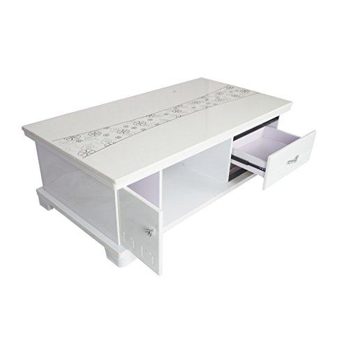 Carigari White Designed Marble Center Table CT231