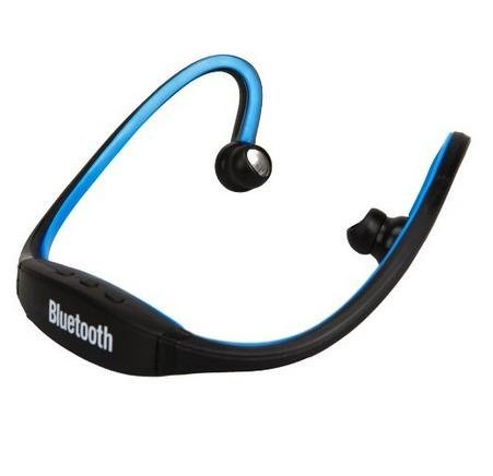 Sunnice® Black Sport Wireless Waterproof Stereo Bluetooth Headphones Handsfree Music Earbud Headset For Smartphone For Iphone 4 4S 5 5G Ipad 1 2 3 4 Ipad Mini(Blue)