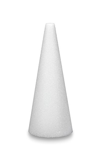 floracraft-packaged-styrofoam-cones-8-7-8-inch-by-3-7-8-inch-cone-white