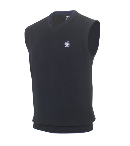 IJP Design by Ian Poulter SS13 Players Crest Slipover (K87) Navy XL