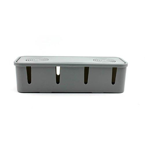 HuaYang Nouveau sortie boîte de rangement/fil boîte de rangement/prise boîte de rangement(gris)