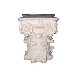 "ResinStone Capital Table Base Color: Limestone, Size: 30"" H x 24"" W x 24"" D"