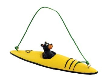 Bear Kayaking Kayak Figure Collectible Ornament,
