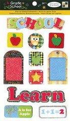 "Grade School Pop-Ups Dimensional Stickers 4.5""X7""-Felt & Glitter Accents - 1"
