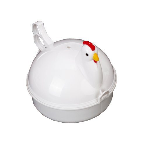 Generic Chicken Shape Microwave Egg Poacher Boiler Steamer