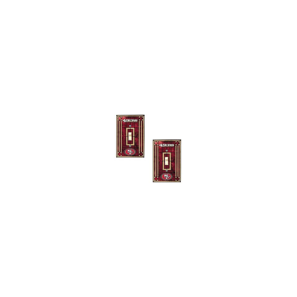 Memory Company San Francisco 49Ers Art Glass Swtich Covers   Set Of 2