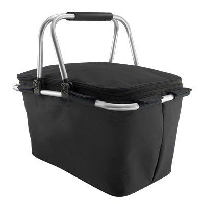 Quicnic Insulated Collapsible Cooler Picnic Basket - Black