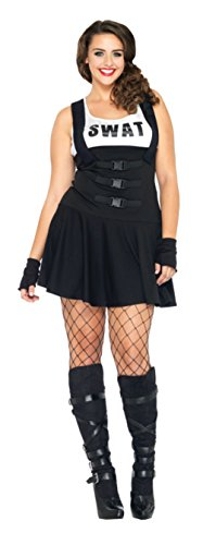 Leg Avenue Women's Plus Size Sultry SWAT Officer Costume