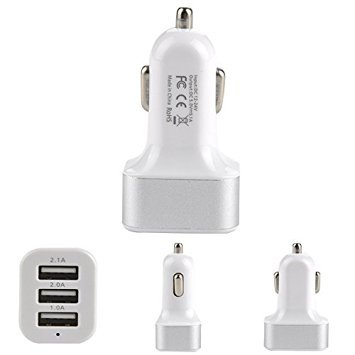 LipiWorld LIPI0373 3-Port USB Car Charger