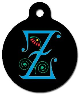Monogram Letter Z Pet ID Tag for Dogs and Cats