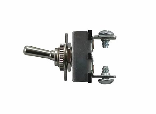 Jt&T Products (2653J) - 20 Amp @ 12 Volt - S.P.S.T., Heavy Duty On/Off All Metal Toggle Switch With Two Screw Terminals