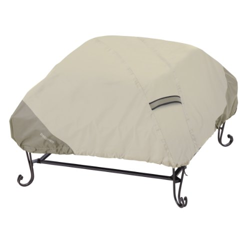 Classic Accessories 55-262-021001-00 Belltown Fire Pit Cover, Square, Grey