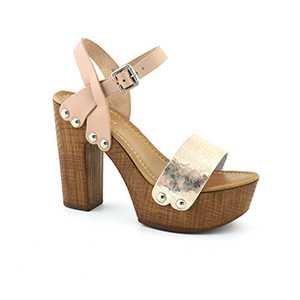 ZR82A PLATINO Scarpa donna sandalo zoccolo plateau Hypnosi Zaira platino