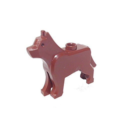 Lego Parts: Land Animal Dog / Wolf 'The Grim' (Reddish Brown)