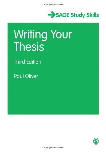 Writing Your Thesis (SAGE Study Skills Series)