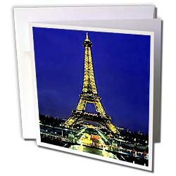 Vacation Spots - Eiffel Tower - Greeting Cards-6 Greeting Cards with envelopes