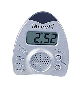 battery powered talking clock with radio radio alarm clocks. Black Bedroom Furniture Sets. Home Design Ideas