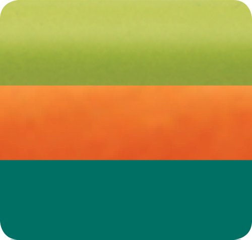 Jillson Roberts Recycled Multi Pack Tissue, Techno, Lime/Orange/Teal, 54-Sheet Count (MU85)