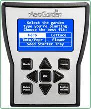 AeroGarden ULTRA Control Panel for indoor garden