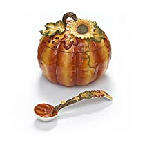 Large 122oz Autumn Pumpkin Soup/stew Tureen with Ladle Great Thanksgiving Kitchen Decor