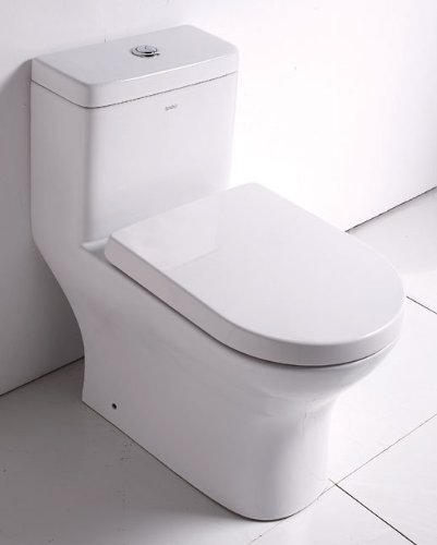 Eago TB353 White Dual Flush One Piece Eco-Friendly Ceramic Elongated Toilet TB353