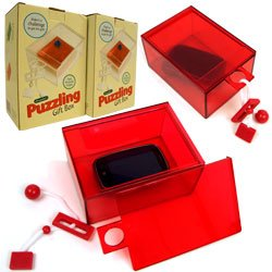 Clear Plastic Puzzle Gift Boxes - Red - 2pk. Product Category: Toys & Games > Games