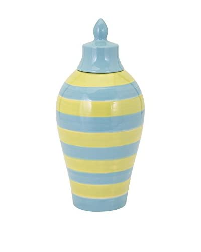 Small Savannah Blue/Yellow Striped Vase