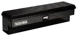 Lund/Tradesman 79748 48-Inch Aluminum Side Mount Box, Diamond Plated, Black