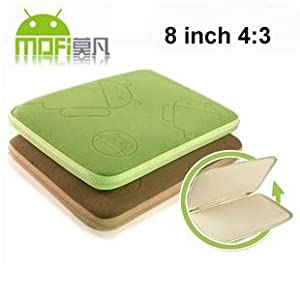 MOFI elegant protective carry velvet soft case for 8 inch (4:3) android tablet Ployer MOMO8 Bird, Teclast P85, Onda VI30 and more (Green or brown)