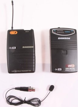 Samson UM1 Portable Wireless Lavalier Microphone System (Frequency N2)