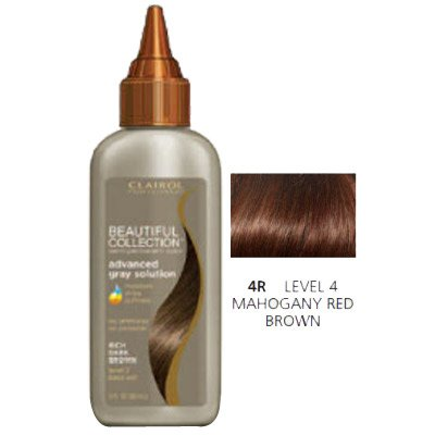Clairol Beautiful Collection Advanced Gray Solution Hair Color, 3 fl oz -Mahogany Red Brown (Red Mahogany Dye compare prices)