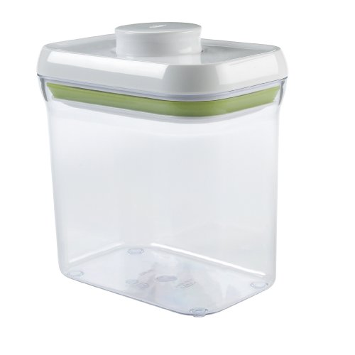 OXO Tot Pop Short Rectangle Storage Container, White , 1.5 Quart