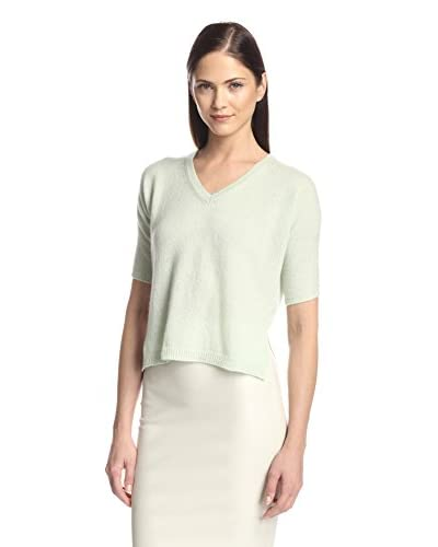 Les Copains Women's Cashmere V-Neck Sweater with Side Slits