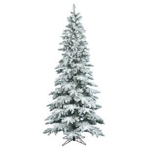 Vickerman 6.5 ft. Flocked Slim Utica Fir Christmas Tree