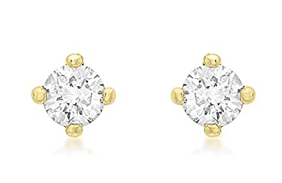 Carissima Gold 9 ct 0.15 ct Solitaire Diamond Stud Earrings