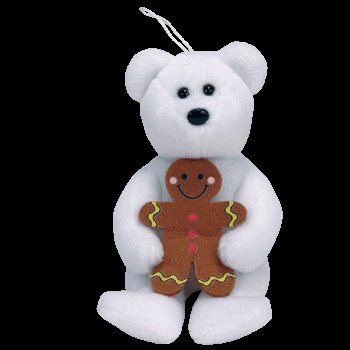 Ty Beanie Babies Goody Holiday Teddy Bear Jingle Beanie Baby