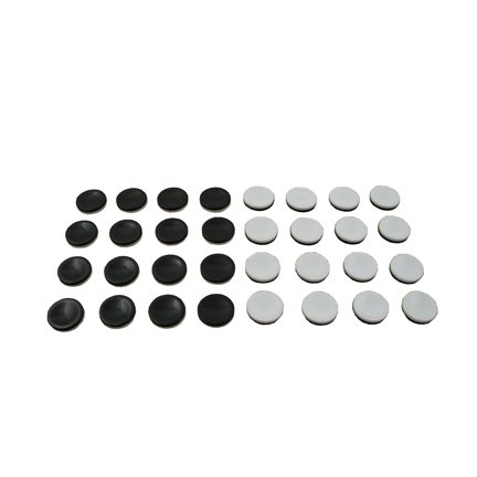 Othello Game - 32 Replacement Discs - Black & White Reversible Pawns/Pieces