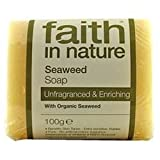 Faith In Nature Hand Made Seaweed Soap Unfragranced With Organic Seaweed 100g