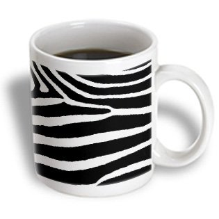 3Drose Mug_44184_1 Black And White Zebra Print Ceramic Mug, 11-Ounce